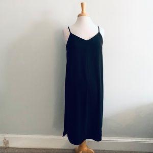 Adrienne Vittadini Black Slip Dress Sz S